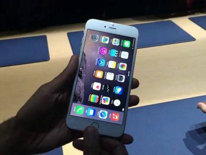 Demonstração do funcionamento do iPhone 6.