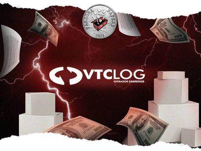 Arte sobre investigação do Pandora Papers envolvendo a empresa VCTLog