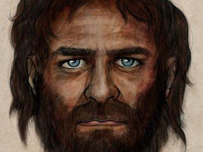 Ilustração do caçador cujos restos, de mais de 7.000 anos, foram descobertos na na província espanhola de León.