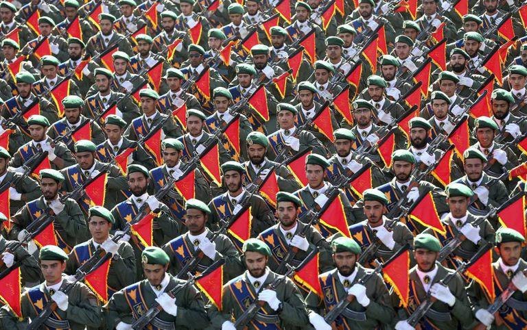 A Guarda Revolucionária do Irã em um desfile de 2016.