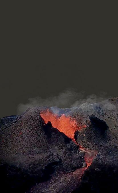 Como um vulcão adormece