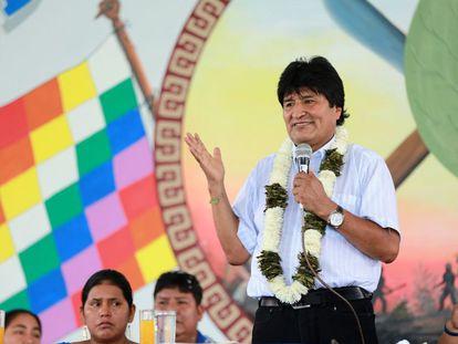 Evo Morales, na sexta-feira passada, na região do Chapare.