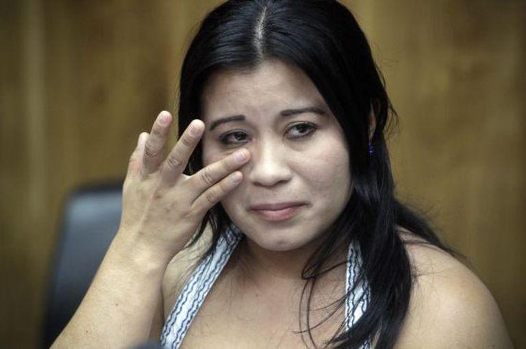 Guadalupe Vásquez no tribunal.