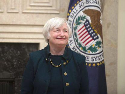 A nova presidenta da Reserva Federal, Janet Yellen.