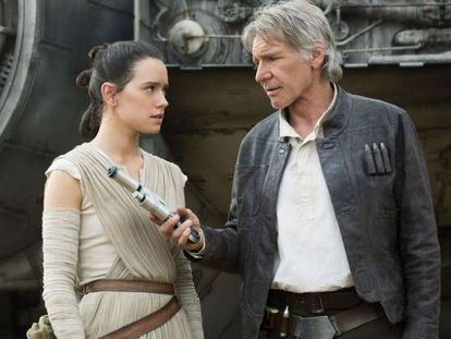 Harrison Ford numa cena de 'Star Wars: O Despertar da Força'.