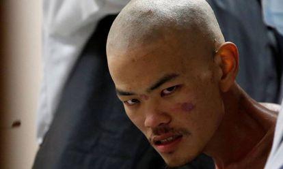 Liang Sheng Yueh, depois de ser resgatado.