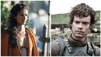 Ellaria Sand e Theon Greyjoy.
