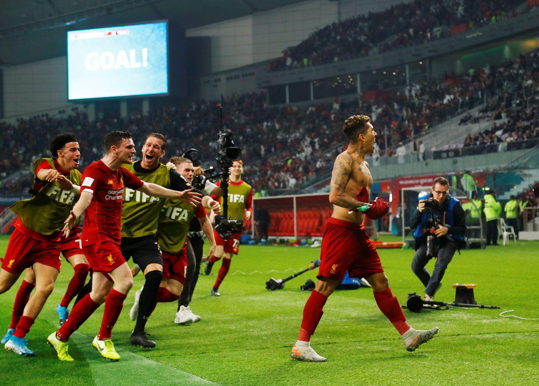 Roberto Firmino fez o gol da vitória do Liverpool no Mundial.