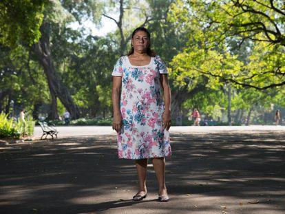 Marinete Silva, mãe de Marielle Franco, durante a entrevista.
