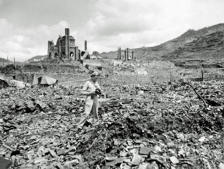 A cidade japonesa de Hiroshima após o ataque nuclear de 6 de agosto de 1945.