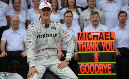 Michael Schumacher em Interlagos, novembro de 2012.