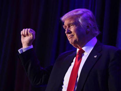 Donald Trump, em 8 de novembro, após sua vitória eleitoral.
