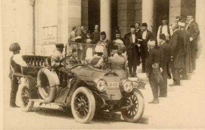 O arquiduque com sua esposa em Sarajevo em 28 de junho de 1914