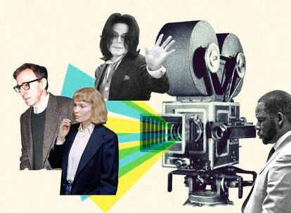 Woody Allen e Mia Farrow, Michael Jackson e R. Kelly, personalidades controvertidas para o público e que foram temas de documentários.