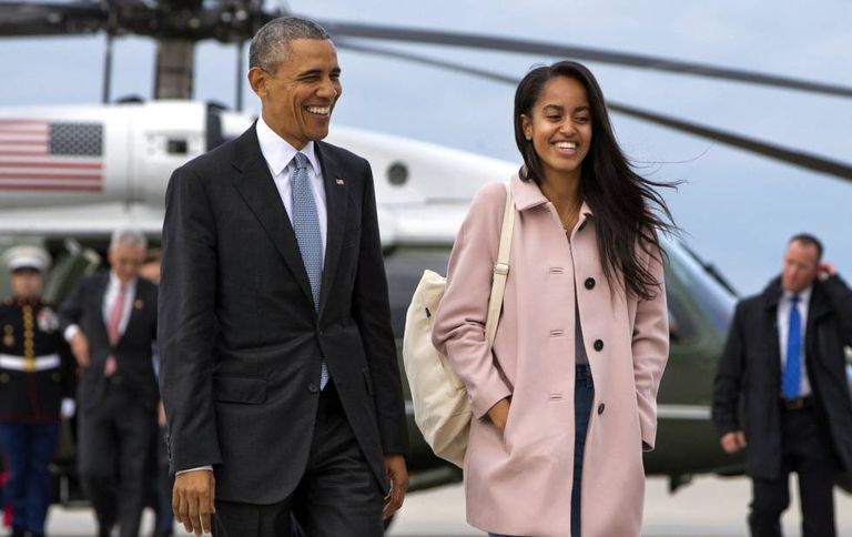 O presidente e sua filha Malia em 7 de abril.