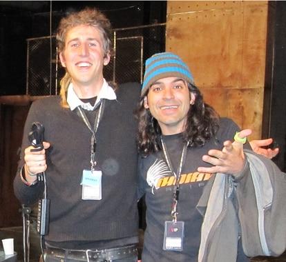 O fundador do Signal, Moxie Marlinspike (à esquerda), com o hoje diretor da Unidade Global de Consumo Digital da Telefónica, Chema Alonso (à direita), em uma imagem de 2009
