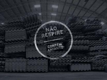 Cartaz do premiado documentário 'Não respire – contém amianto'.