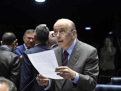 Senador José Serra, do PSDB, no Senado em dezembro de 2019.