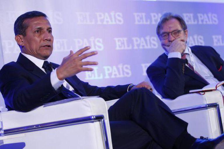 O presidente do Peru, Ollanta Humala, Juan Luis Cebrián.