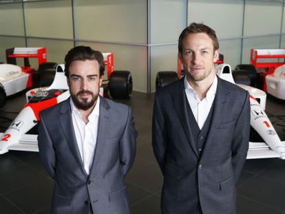 Alonso e Button na apresentação da McLaren.