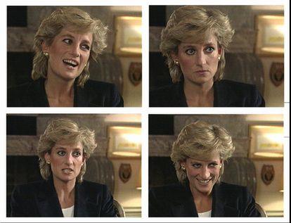A princesa Diana durante entrevista concedida ao programa Panorama, em 1995.