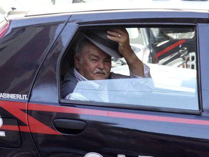 Um detido durante operação contra a 'Ndrangheta, em 2010