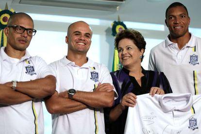 Dilma com os representantes do Bom Senso FC.