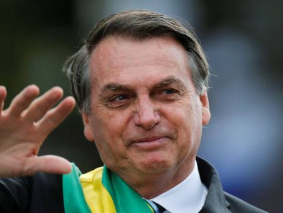 Jair Bolsonaro, durante o desfile de 7 de Setembro.