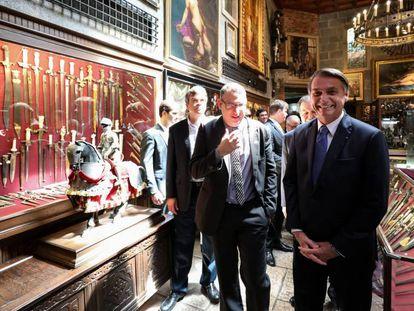 Bolsonaro, em visita ao Instituto Ricardo Brennand, no Recife nesta sexta-feira.