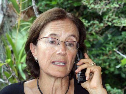 A jornalista, momentos após ser libertada pelo ELN em Catatumbo (Colômbia).