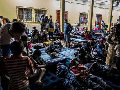 Casa do migrante da Cidade da Guatemala.