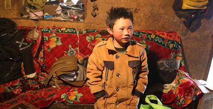 Wang Fuman em sua casa.