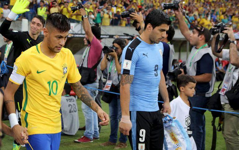 Neymar e Suárez, os capitães.