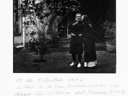 Foto tomada por Rodrigo García a seus pais: Gabriel e Mercedes.