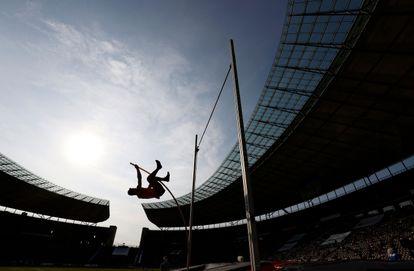 Thiago Braz, em setembro de 2020, na competição que garantiu a vaga na Olimpíada de Tóquio.