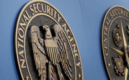 Logotipo da NSA, em sua sede em Washington.