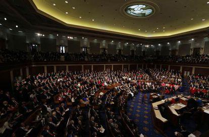 A jornada inaugural do Congresso dos EUA.