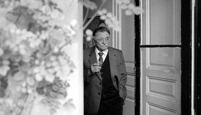 O escritor Mario Benedetti em Madri.