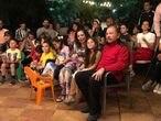 El presidente de Nicaragua, Daniel Ortega, y de la vicepresidenta y primera dama, Rosario Murillo en una fiesta con su familia.