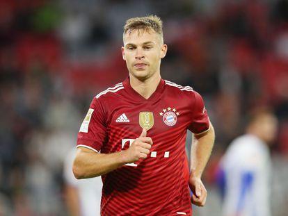 Joshua Kimmich, durante uma partida pelo Bayern nesta temporada.