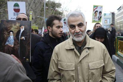 O General Qassem Soleimani em uma foto de arquivo de 2016