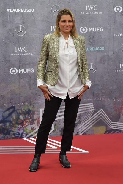 Maya Gabeira, durante evento que premia os melhores esportistas do ano