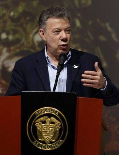 Juan Manuel Santos, em Medellín.