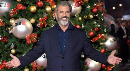 Mel Gibson, na estreia de 'Pai em Dose Dupla 2'.