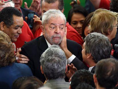 Lula durante sua posse, no dia 17.