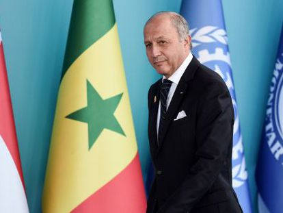 Fabius, ministro francês das Relações Exteriores, na reunião do G20.