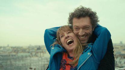 Emmanuelle Bercot e Vincent Cassel, no filme.