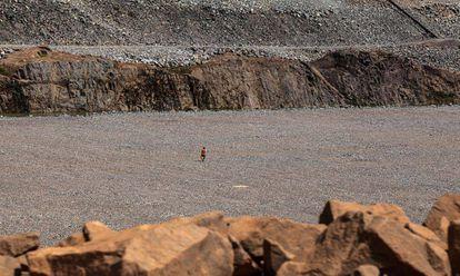 As obras de Belo Monte no que antes era floresta.