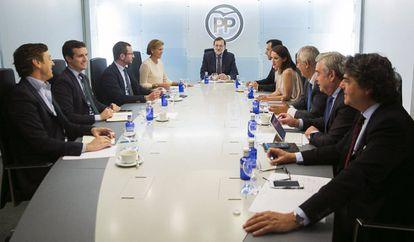 Mariano Rajoy, durante uma reunião do Comitê de Direção do PP.