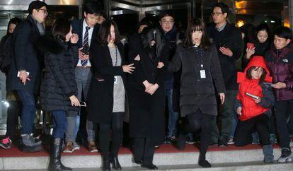 Cho Hyun-ah, filha mais velha do presidente da Korean Air, Cho Yang-ho, e ex-vice-presidente da companhia aérea.